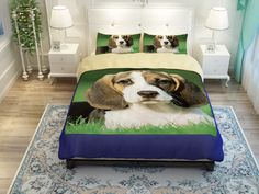 3D Animals Huskies/Beagles/Perky Pug Cute Dog Print Bedding Set