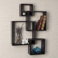 Danya B Intersecting Cube Shelves - Espresso