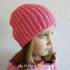 If you love the look of knit hats, but you prefer crocheting, the Side2Side Hat is a perfect choice for you. This unisex design includes multiple sizes from 12 months baby through adult large.