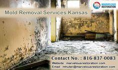 #MarvelousRestoration provide 24/7 mold removal services in kansas city.
