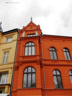 Colourful old building