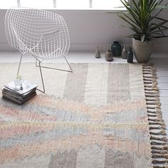 Ikat Diamond Dhurrie Rug #westelm @sccatinella do you like this for our living room?