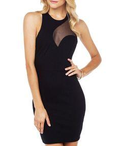 Asymmetry Gauze Split Joint Dress - Bodycon Dress - Dresses - Clothing