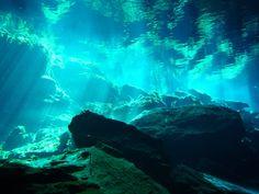 写真では伝えられない青 Cenote Diving  Mexico  23.11.2008 - 地球横一周サイクリング と 縦回り自由旅 - Yahoo!ブログ