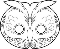 Free Printable Masks The Owl Masque De Hibou