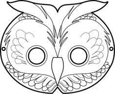 free printable masks: the owl Masque de Hibou