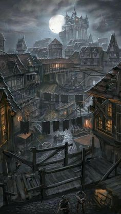 Dark Fantasy, Fantasy Concept Art, Fantasy City, Fantasy Castle, Fantasy Places, Fantasy World, Fantasy Art Landscapes, Fantasy Paintings, Fantasy Landscape