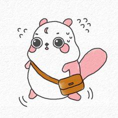 The flyingsquirrel character Dalbong :) 하늘다람쥐 캐릭터 달봉이 입니다 <3 https://www.instagram.com/dabonee_/