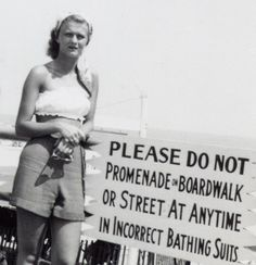 "I wonder what style constituted "" incorrect bathing suits"" ? ALady C.1940s"