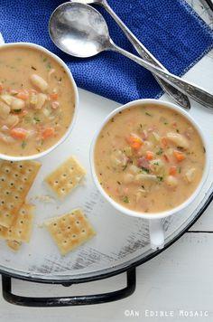 White Bean Chowder Recipe #soup #comfortfood #dinner