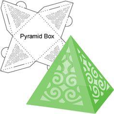 Silhouette Design Store - View Design #14557: christmas tree pyramid box