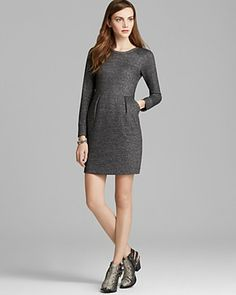 Aqua Dress - French Terry Pocket | Bloomingdale's so cute for this time of year