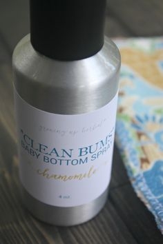 Homemade Baby Bottom Spray For Dirty Tushies | Growing Up Herbal | DIY wash for dirty baby bottoms. Smells great, easy to make, cleans bottoms well!