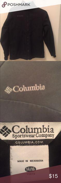 Columbia jacket mid weight black zip up front Like new your jacket zip up front solid black not real heavy Columbia Jackets & Coats