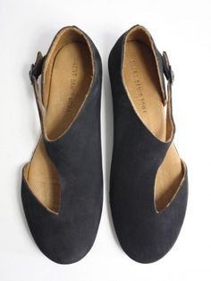 Flats: Sahi Sandals in Black Suede by Silent / Damir Doma