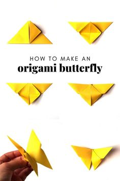 Want to know how to make an Easy Origami Butterfly? Follow this simple step by step tutorial and you'll be folding these lovely paper butterflies in no time. Making an origami butterfly is as quick as they are simple. A perfect craft for Spring and fun for both kids and adults alike.  #origami #butterfly #origamiinstructions #origamibutterfly Origami Easy Step By Step, Easy Origami For Kids, Origami Butterfly Easy, Origami Hearts, Origami Flowers, Origami Ball, Origami Boxes, Origami Folding, Dollar Bill Origami