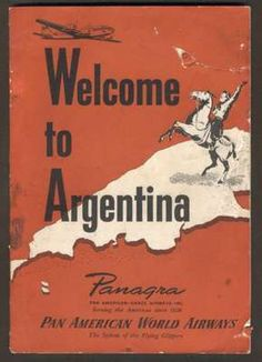 Panagra Pan Am Book Argentina Views Map Guide Decade of 50 Argentina Map, Pan Am, Love Posters, View Map, Vintage Travel Posters, Nature Pictures, Ciel, My Books, Aviation