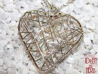 Herz aus Draht in silber (Halskette)