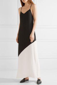 ALICE   OLIVIA Maggie sophisticated two-tone crepe maxi dress
