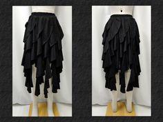 【楽天市場】ゴスロリ ゴシック v系 ラセンドレープフリルイレギュラースカート黒:PARROT