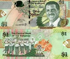Bahamas Dollars banknotes for sale. Dealer of quality collectible world banknotes, fun notes and banknote accessories serving collectors around the world. Over 5000 world banknotes for sale listed with scans and images online. Money Template, History Of Philosophy, Money Worksheets, Legal Tender, Central Bank, One Dollar, Old Coins, Coin Collecting, Most Beautiful