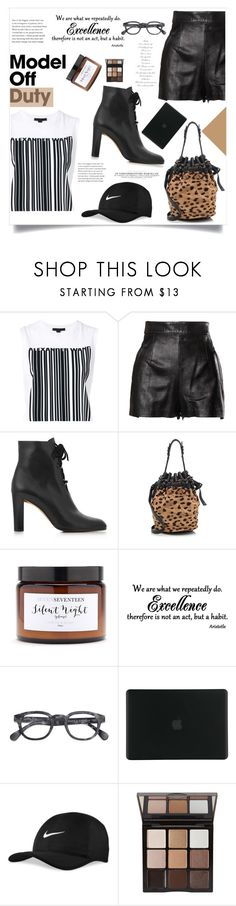 """""""It-Girl: Model Off Duty"""" by violet-peach ❤ liked on Polyvore featuring Alexander Wang, Moschino, L.K.Bennett, Silent Night, Tucano, NIKE, Trish McEvoy and modeloffduty"""