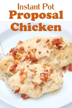 Easy Instant Pot recipe that tastes so good you might just get a marriage proposal out of it! Yummy Chicken Recipes, Yum Yum Chicken, Slow Cooker Recipes, Crockpot Recipes, Make Ahead Lunches, Chicken Cutlets, Pressure Cooking, Proposal, Instant Pot