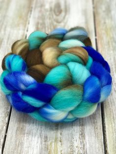Polwarth Comb Top - Roving - Spinning Fiber - Hand Dyed Wool - felting supplies - hand spun - Wool - Dandelions & Daisies - fiber by MyDaisyDoll on Etsy https://www.etsy.com/listing/516295341/polwarth-comb-top-roving-spinning-fiber