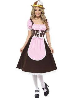 Look like all the other ladies wearing the traditional Dirndl this Oktoberfest with our Smiffys Tavern Girl fancy dress costume.