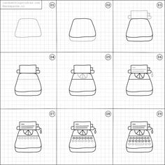 How to draw a typewriter.