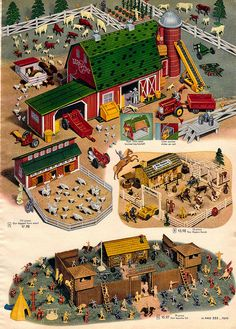 1956 Sears Christmas Catalog Farm set * 1500 free paper dolls Christmas gifts artist Arielle Gabriels The International Paper Doll Society also free paper dolls The China Adventures of Arielle Gabriel *