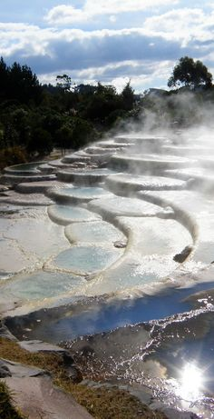 Wairakei Thermal Terraces in Rotorua, North Island, New Zealand