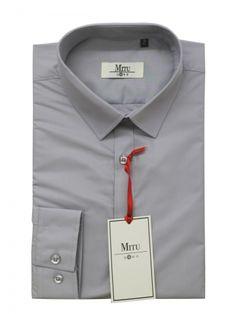 Mitu Uomo Designer Stylish GB 21/NC Silver Shirt.