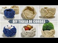 Sisal, Rope Crafts, Diy Arts And Crafts, Crochet Basket Pattern, Crochet Decoration, Macrame Tutorial, Macrame Knots, Macrame Patterns, Creations