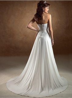 A-line/Sheath Strapless Sleeveless Ruching/Belt Veil Empire Sweep train Chiffon Wedding Dresses WE1837