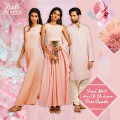 Trend Alert!Introducing the colour of the season, Rose Quartz. Rose Quartz is a soothing, persuasive yet gentle tone that conveys compassion and a sense of composure. Rose Quartz reminds us to reflect on our surroundings during the busy but lighthearted spring and summer months.Contact: 9819980846/9820709875 (appointment basis only)Email: info@bubbercouture.com #rosequartz #springsummer #colouroftheseason #trendalert#bubbercouture