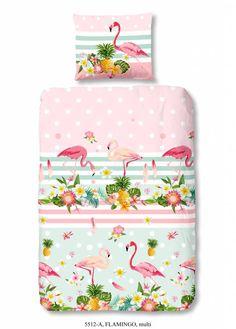 Bestel nu Dekbedovertrek flamingo van Kids-Style op Hipdekbedovertrek.nl. Mooi kids dekbedovertrek met afbeeldingen van flamingo's en bloemen.