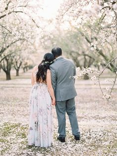Almond Orchard Engagement | Tawny   Mike