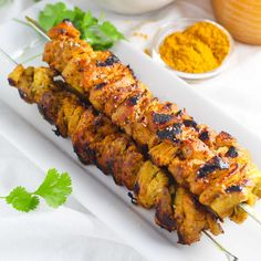 These Curry Chicken Skewers with Lime make a great weeknight dinner that's easy to prepare on the grill. | platingsandpairings.com