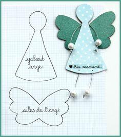 Ange en papier dont les bras et les jambes sont faits avec de la ficelle argentée et des perles rondes - tutoriel