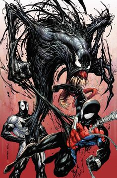 Deadpool Venompool Venom and Spider-man