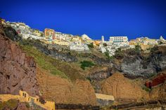 Santorini Hills by Drasko Stojadinovic on Power Tools, Santorini, Grand Canyon, Camping, Mansions, House Styles, Promotion, Travel, Image