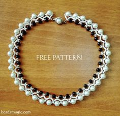 Free pattern for beaded necklace Islandia U need: seed beads 11/0 pearls 8 mm pearls 6 mm