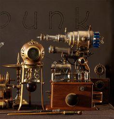 Steampunk, Steam punk, raygun, ray gun, invention,nautical, decor, Steampunk art, Steampunk art print, Clock, watch, gear, gears,. $25.00, via Etsy.
