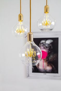 Lampada a sospensione GOLD KING EDISON by Mineheart design Young