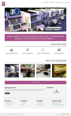 Website Design of Design Republic, an Architectural Design Company made up of Professional 3D Designers, Interior Decorators and Furniture Craftsmen  #websitedesign   #website   #design   #Nigeria   #furniture #interiordecoration  #architecture