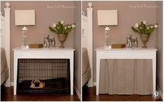 (paid link) dog kennel with barn door #diydogcrate Dog Crate Table, Diy Dog Crate, Dog Crate Furniture, Dog Crate Cover, Crate Bench, Diy Dog Kennel, Diy Dog Bed, Dog Beds, Dog Kennels