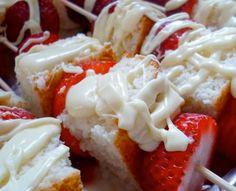 Quick and Healthy Desserts Recipes  - Strawberry Shortcake Kabobs - Click Pic for 34 Delicious Dessert Recipes