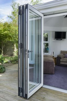 Warmcore Homes have protected over homes since find out more about our Aluminium Windows and Bi folding Doors & Residential doors Glass Porch, Glass Garage Door, Sliding Glass Door, Shed Design, Balcony Design, Door Design, House Design, Folding Patio Doors, Aluminium Windows And Doors
