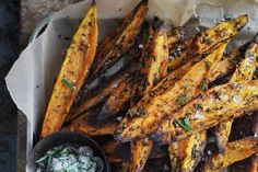 Food. Neil Perry's sweet potato wedges.